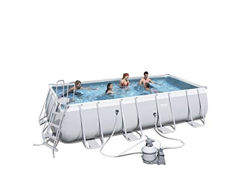 Bestway 549x274x122 cm Best Way Pool Power Marco rectangular de acero cm 549X274X122, cap 14.812 Lt 246, 14812 Litros