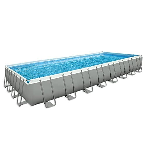 Intex 28372 - Piscina rectangular, bomba de filtro de arena, azul / gris, 975 x 488 x 132 cm