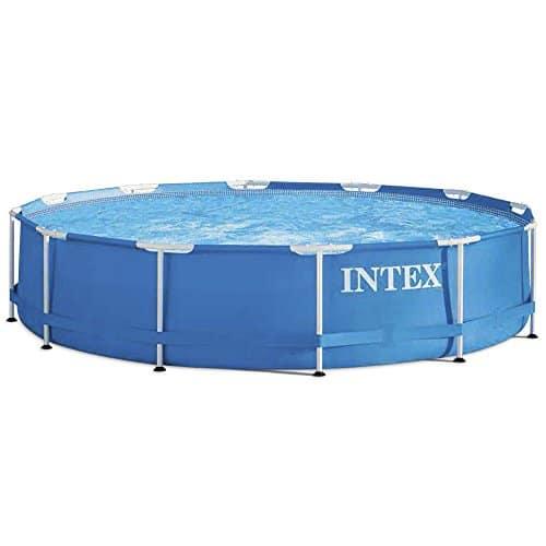 Intex 28212 Piscina con estructura de metal y bomba de filtro, 6500 L, Azul, 366 x 76 cm