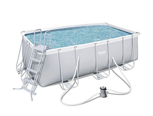 Piscina rectangular Bestway 56456 Power con estructura de acero, 412x201x122 cm
