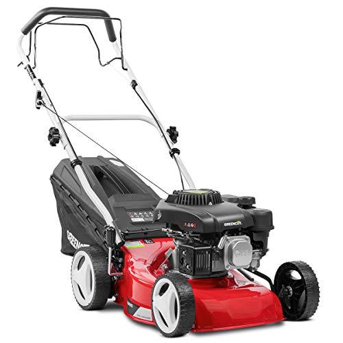 Cortacésped autopropulsado Greencut GLM690SX con marco de plástico 139 cc, 3600 W, rojo, 40 cm, 5 HP